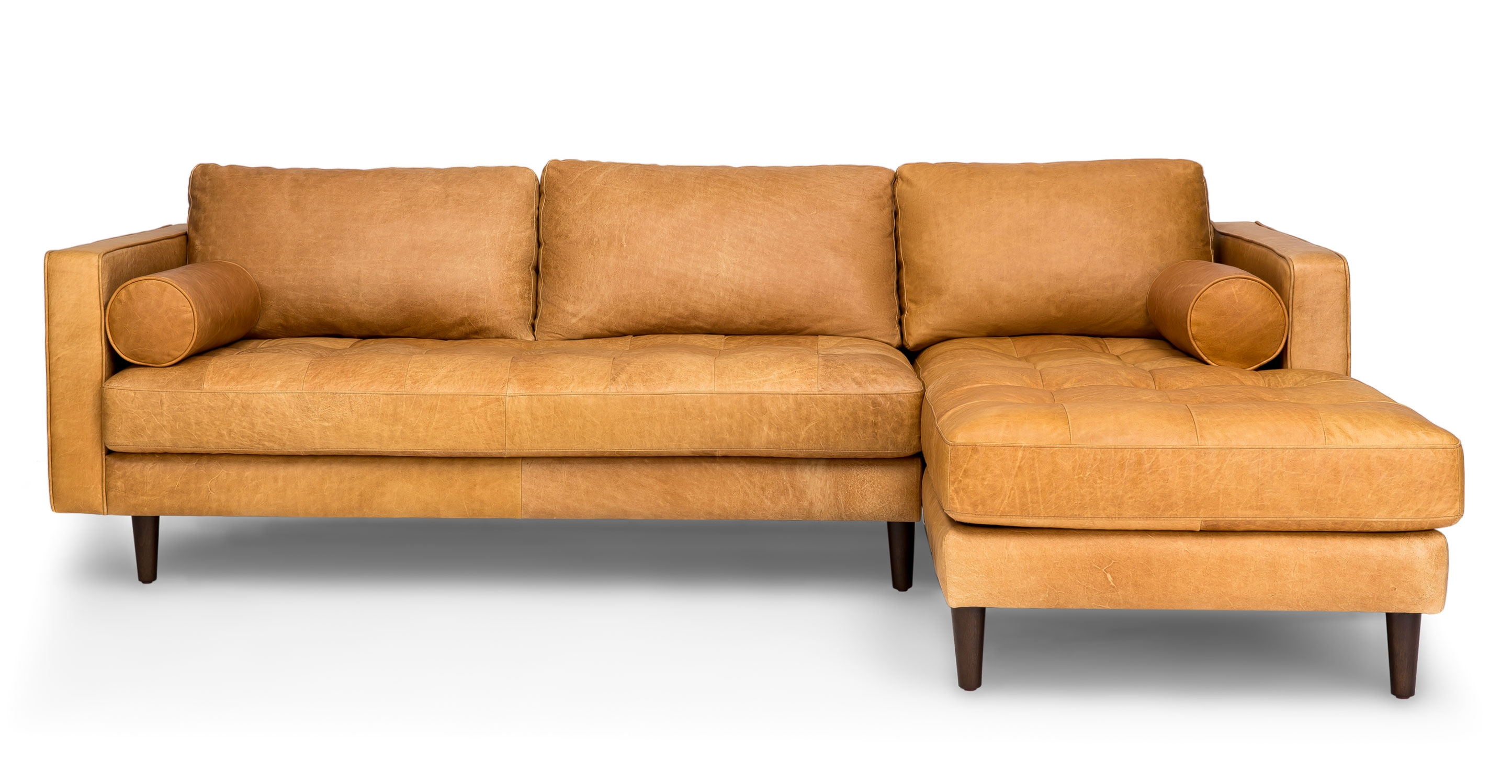 Sven Charme Tan Right Sectional Sofa Sectionals Article Inside Camel Sectional Sofa (#11 of 12)
