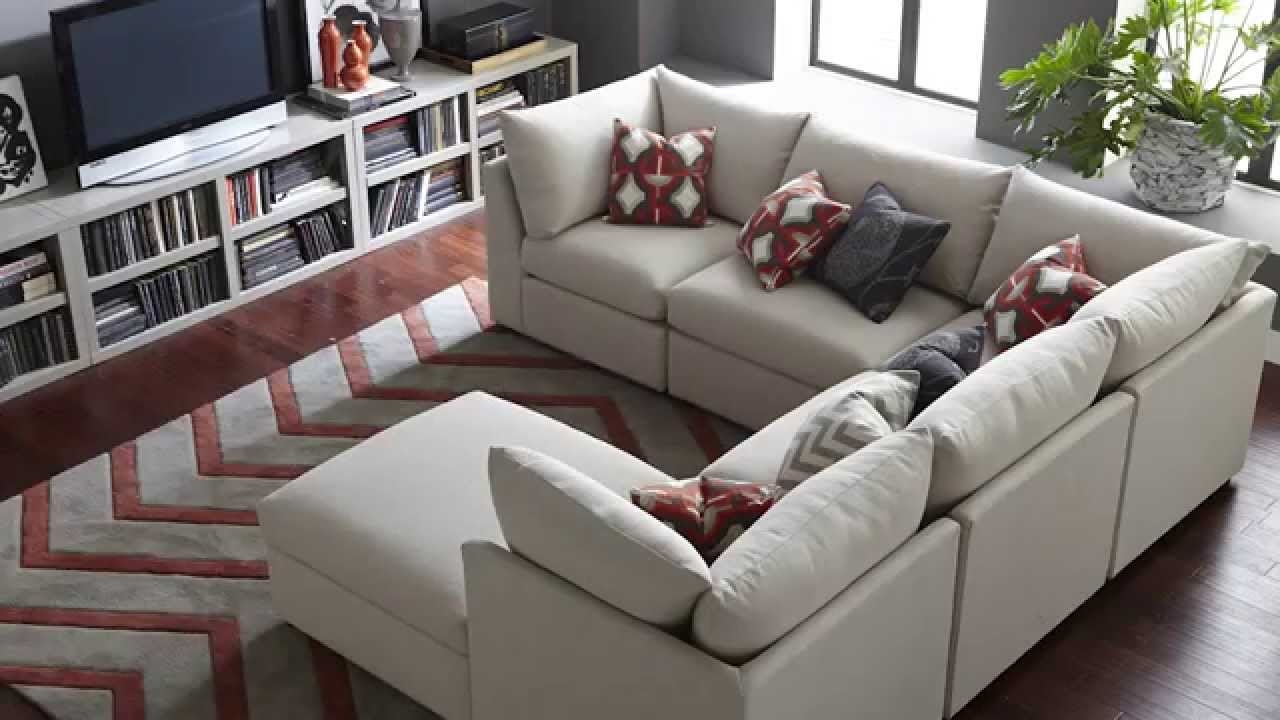The Beckham Sectional Sofa Bassett Furniture Youtube Pertaining To Bassett Sofa Bed (#10 of 12)