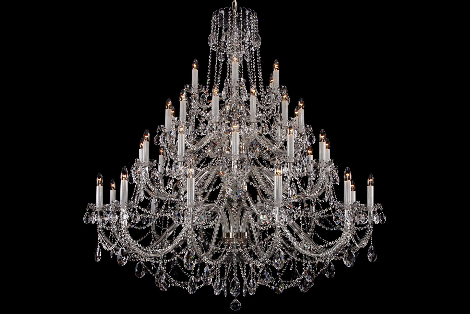 The Largest Clear Crystal Chandelier With Silver Coloured Metal Pertaining To Huge Crystal Chandeliers (#12 of 12)
