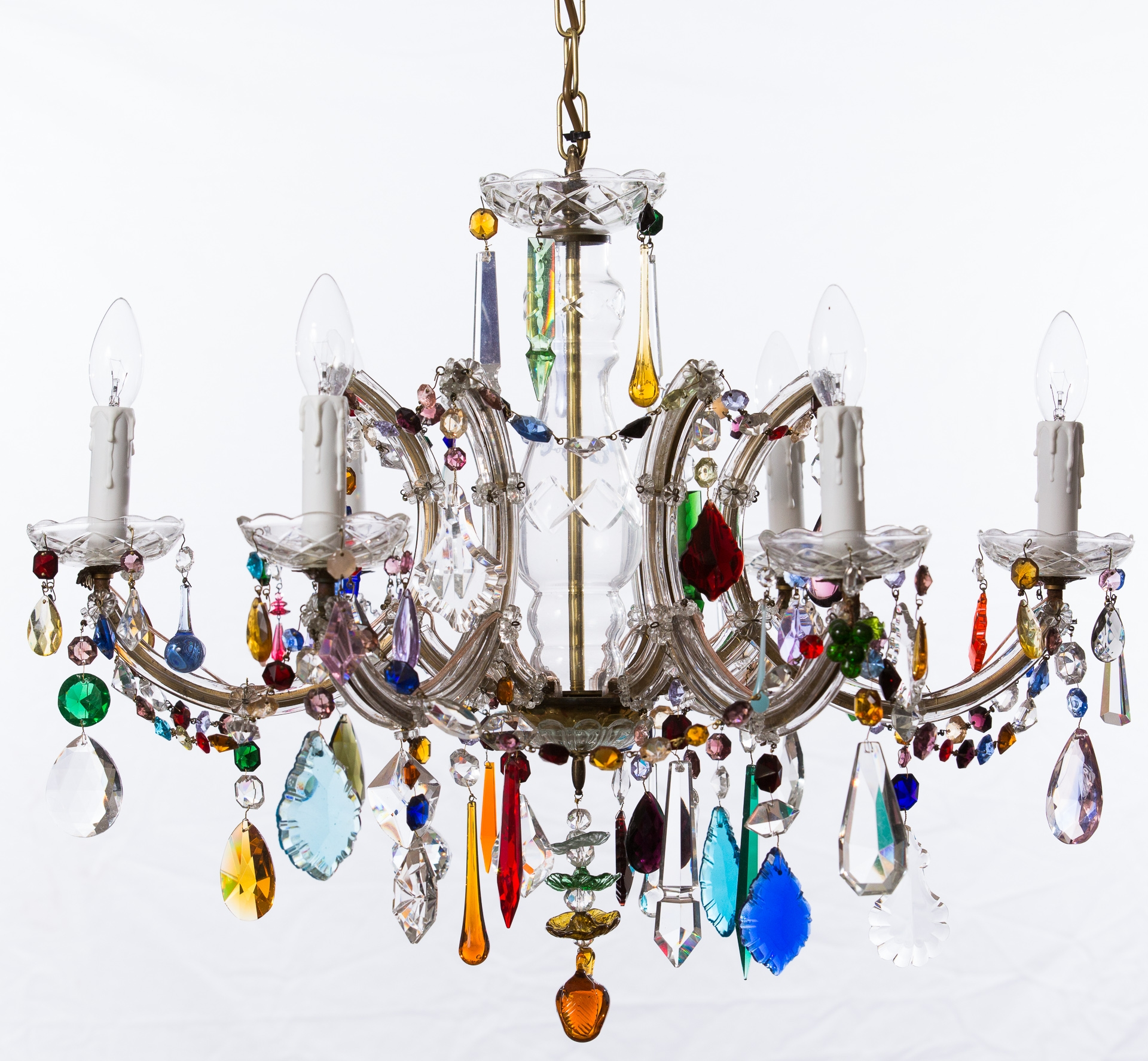 The Vintage Chandelier Companymulti Coloured Archives The For Coloured Chandeliers (#12 of 12)