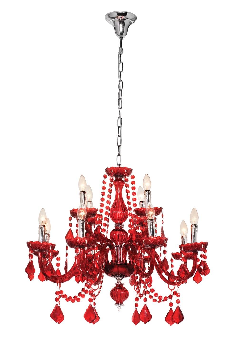 Toledo Red Chandelier Chandeliers Indoor Lighting With Red Chandeliers (#12 of 12)