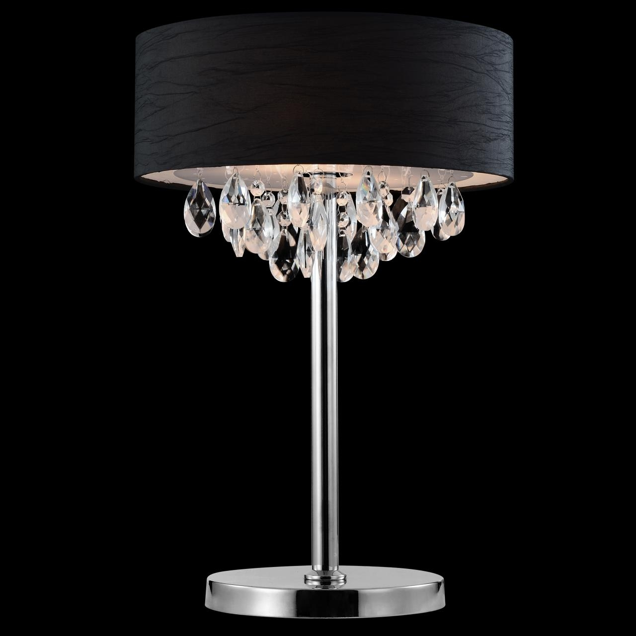 Top 10 Black Crystal Table Lamps 2017 Warisan Lighting Throughout Crystal Table Chandeliers (#11 of 12)