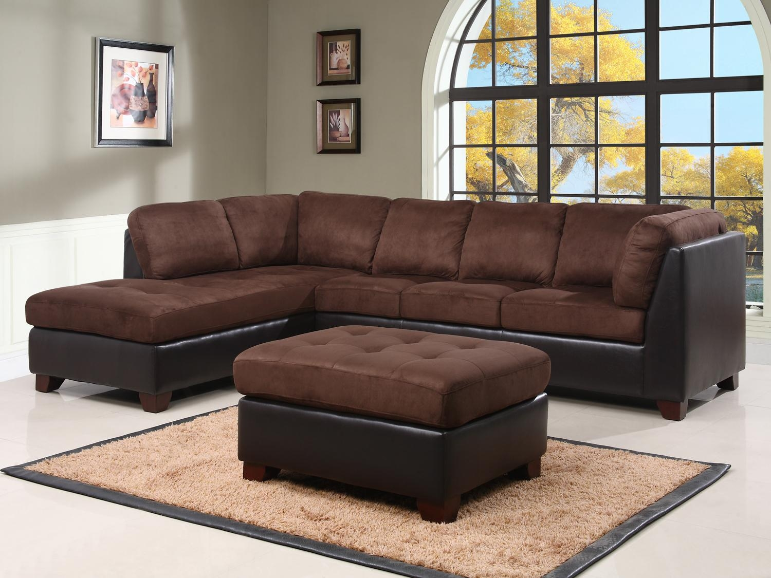 Top Sofa And Ottoman With Image 9 Of 15 Carehouse With Abbyson Living  Charlotte Dark Brown Part 73