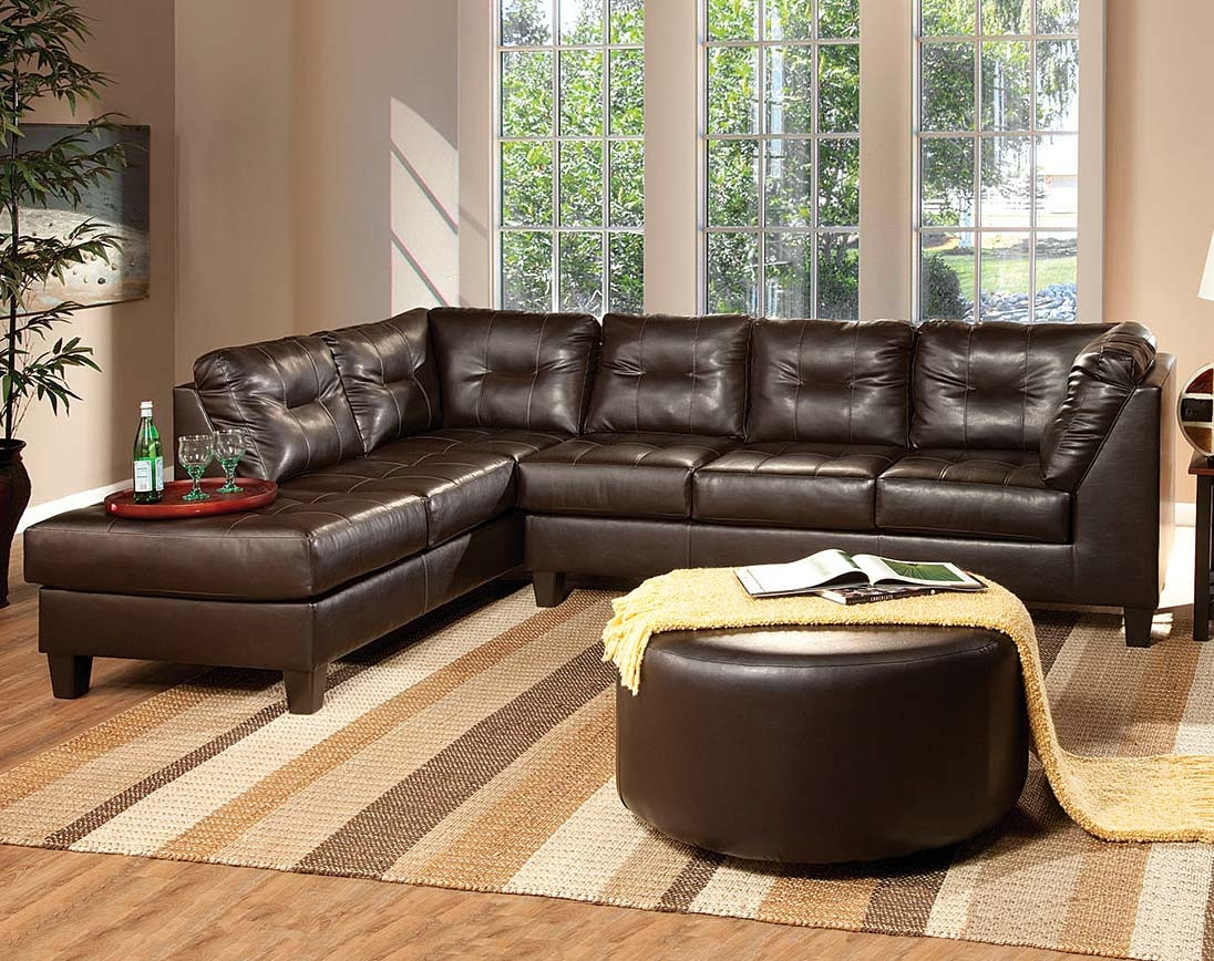 12 Photo Of Chocolate Brown Sectional Sofa