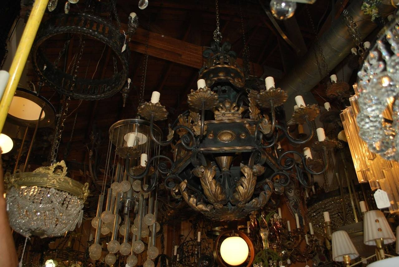 Popular Photo of Large Iron Chandeliers