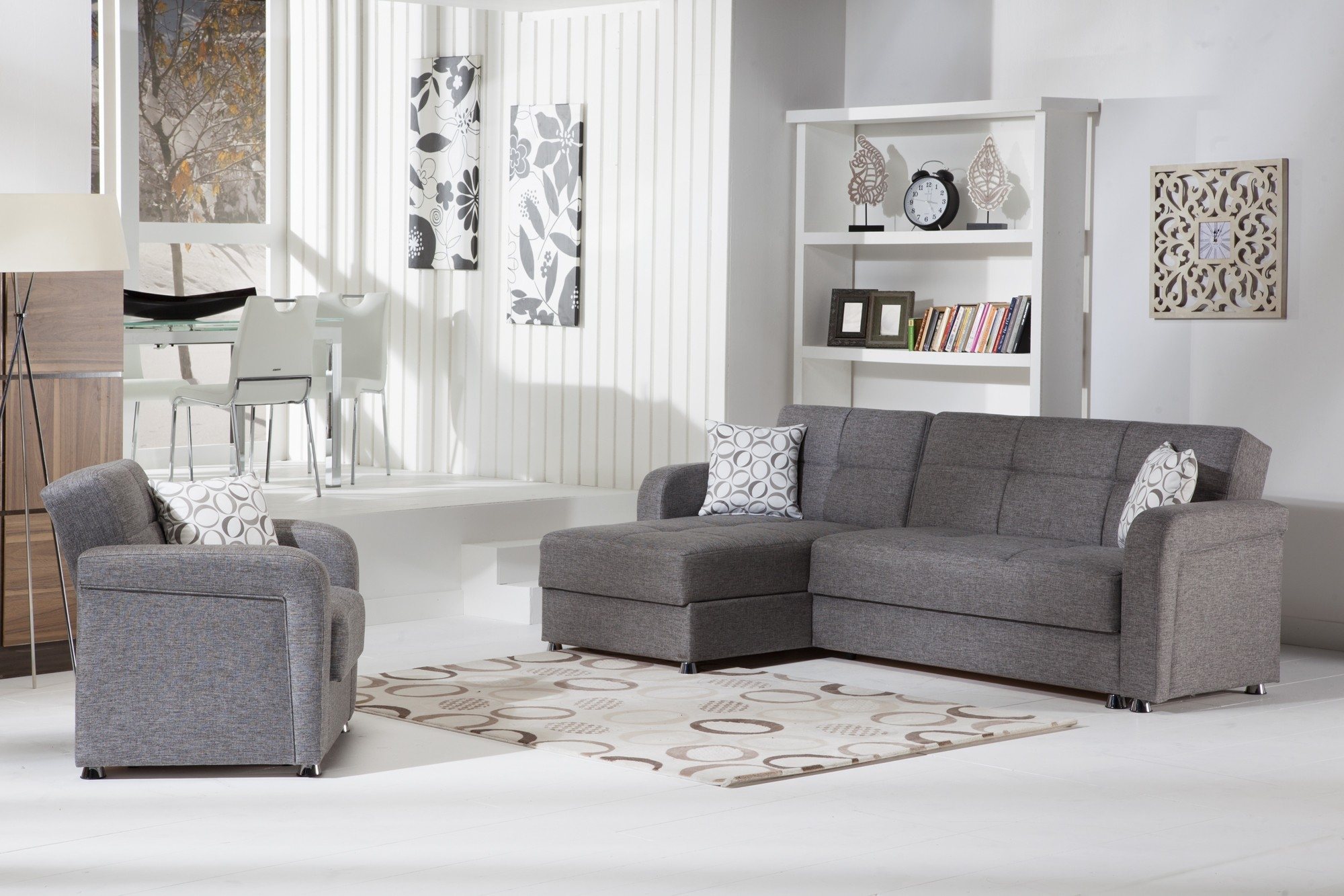 Vision Convertible Sectional Sofa In Diego Grey Istikbal With Convertible Sectional Sofas (#12 of 12)