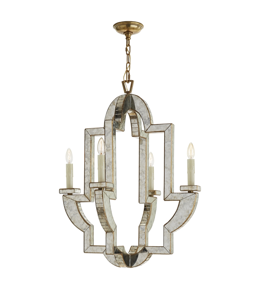 Visual Comfort Nw 5040amhab Niermann Weeks Traditional Lido Throughout Mirror Chandelier (View 6 of 12)