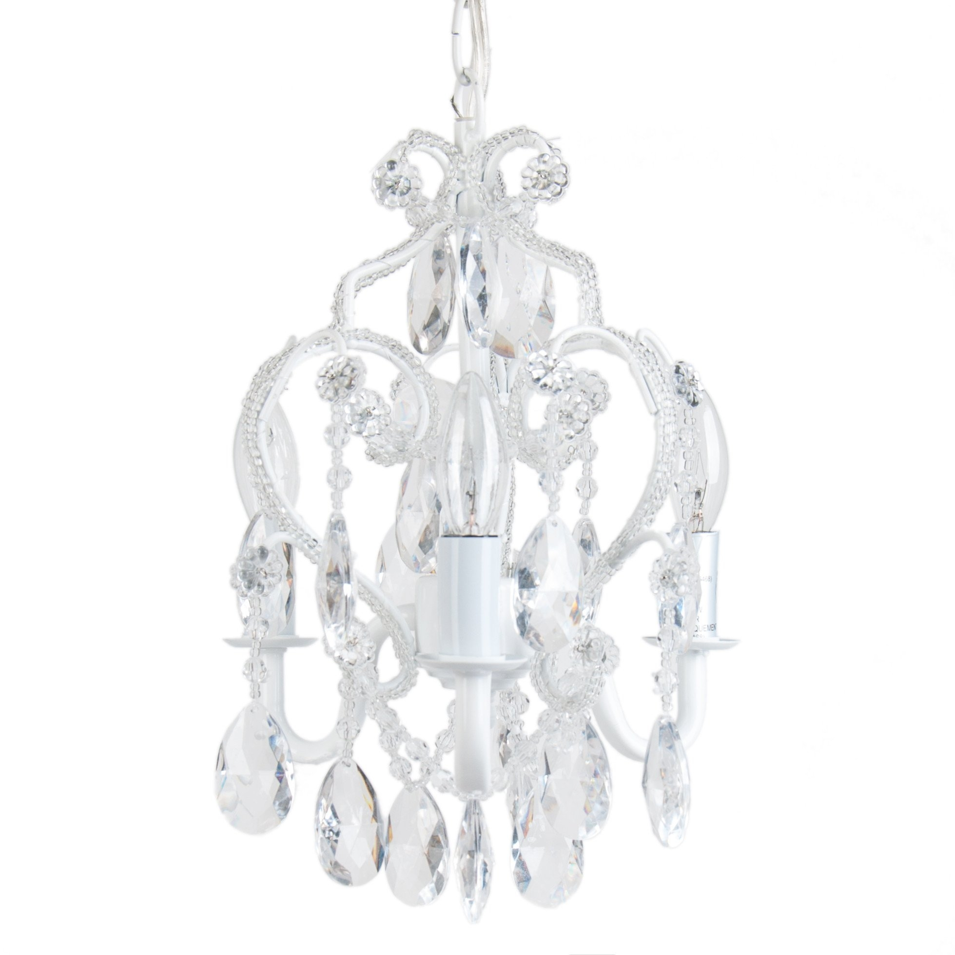 Viv Rae Caden 3 Light Crystal Chandelier Reviews Wayfair Within 3 Tier Crystal Chandelier (#12 of 12)