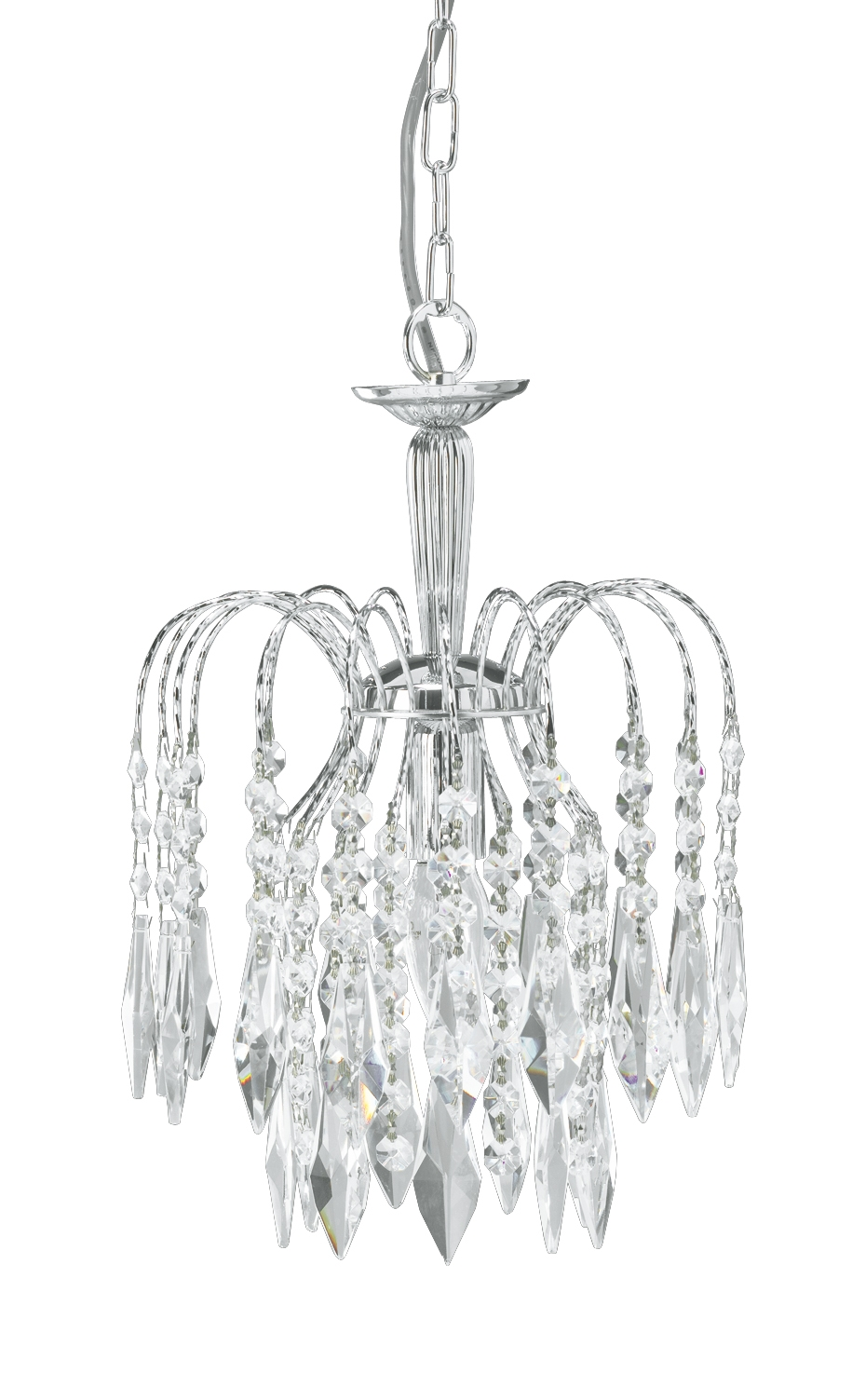 Waterfall Small Chandelier Chrome Pertaining To Small Chrome Chandelier (#12 of 12)