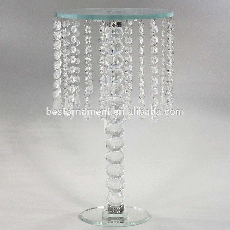 Wedding Crystal Candle Holders Vases Table Chandeliers Buy Table Pertaining To Crystal Table Chandeliers (#12 of 12)