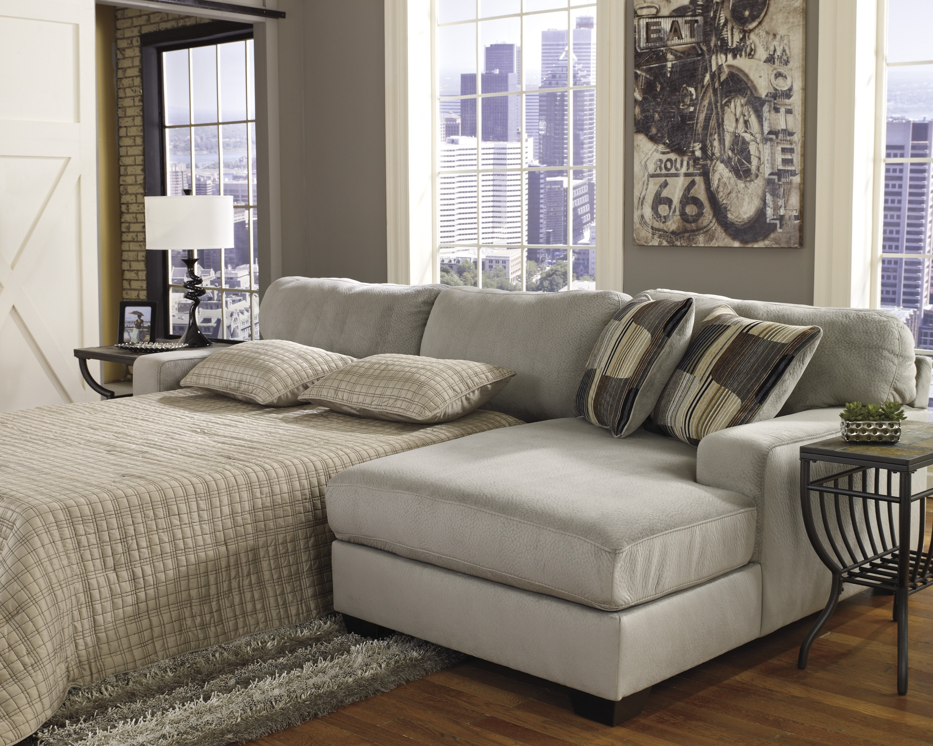 Wonderful Sectional Sofas With Sleeper Bed 52 In 3 Piece Sectional In 3 Piece Sectional Sleeper Sofa (#11 of 12)