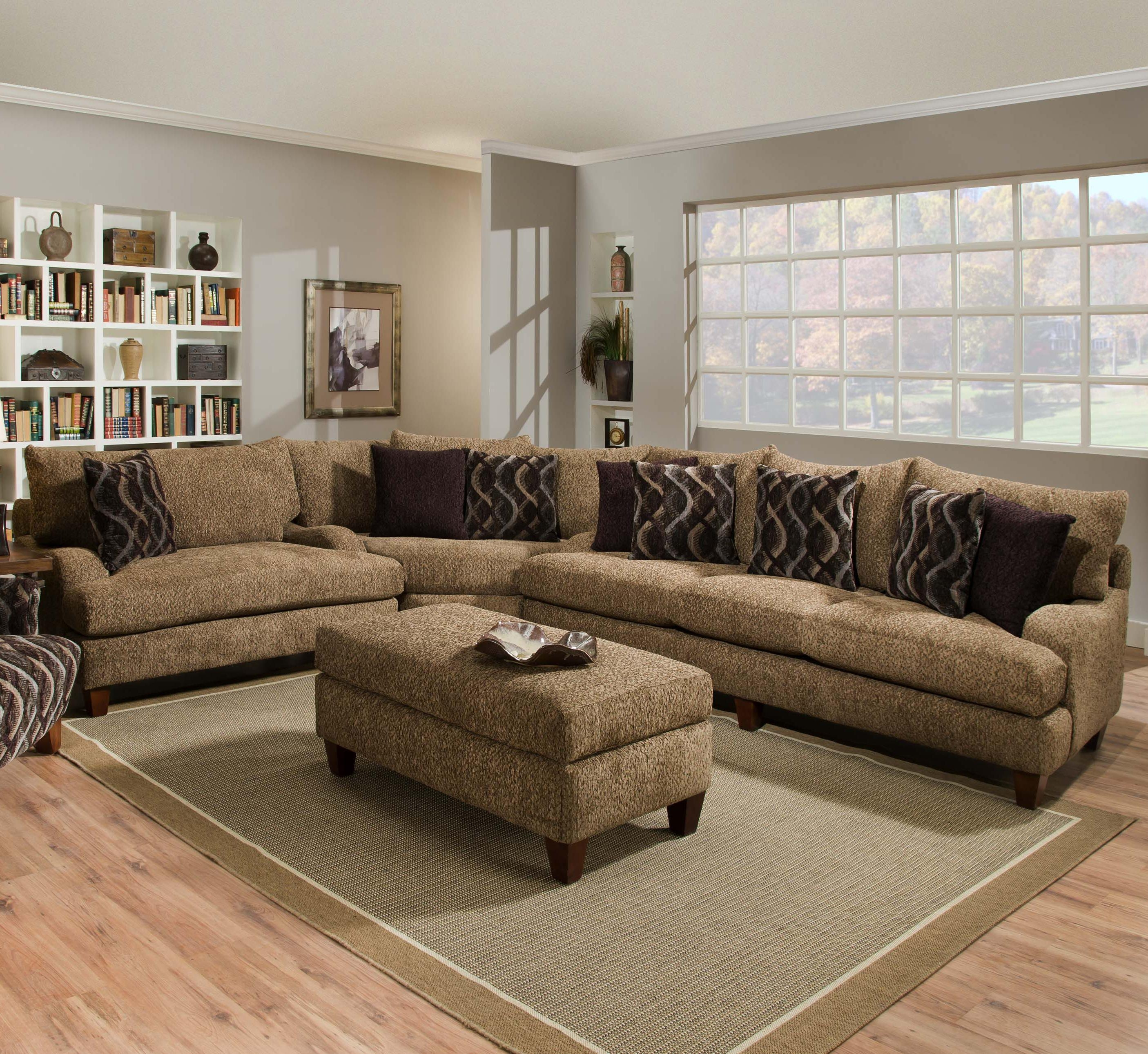 Wonderful Traditional Sectional Sofas Living Room Furniture 41 On Within C Shaped Sectional Sofa (#12 of 12)