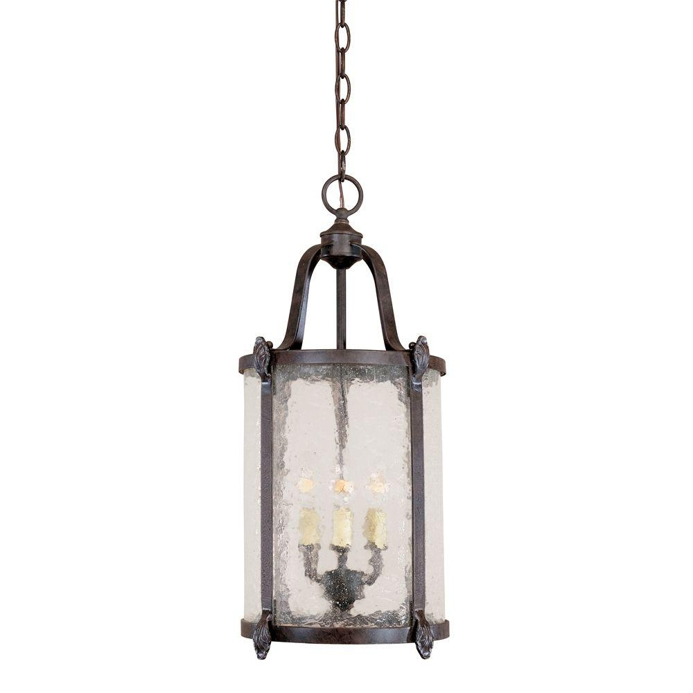 World Imports Old Sturbridge Collection 3 Light Bronze Indoor Inside Indoor Lantern Chandelier (#12 of 12)