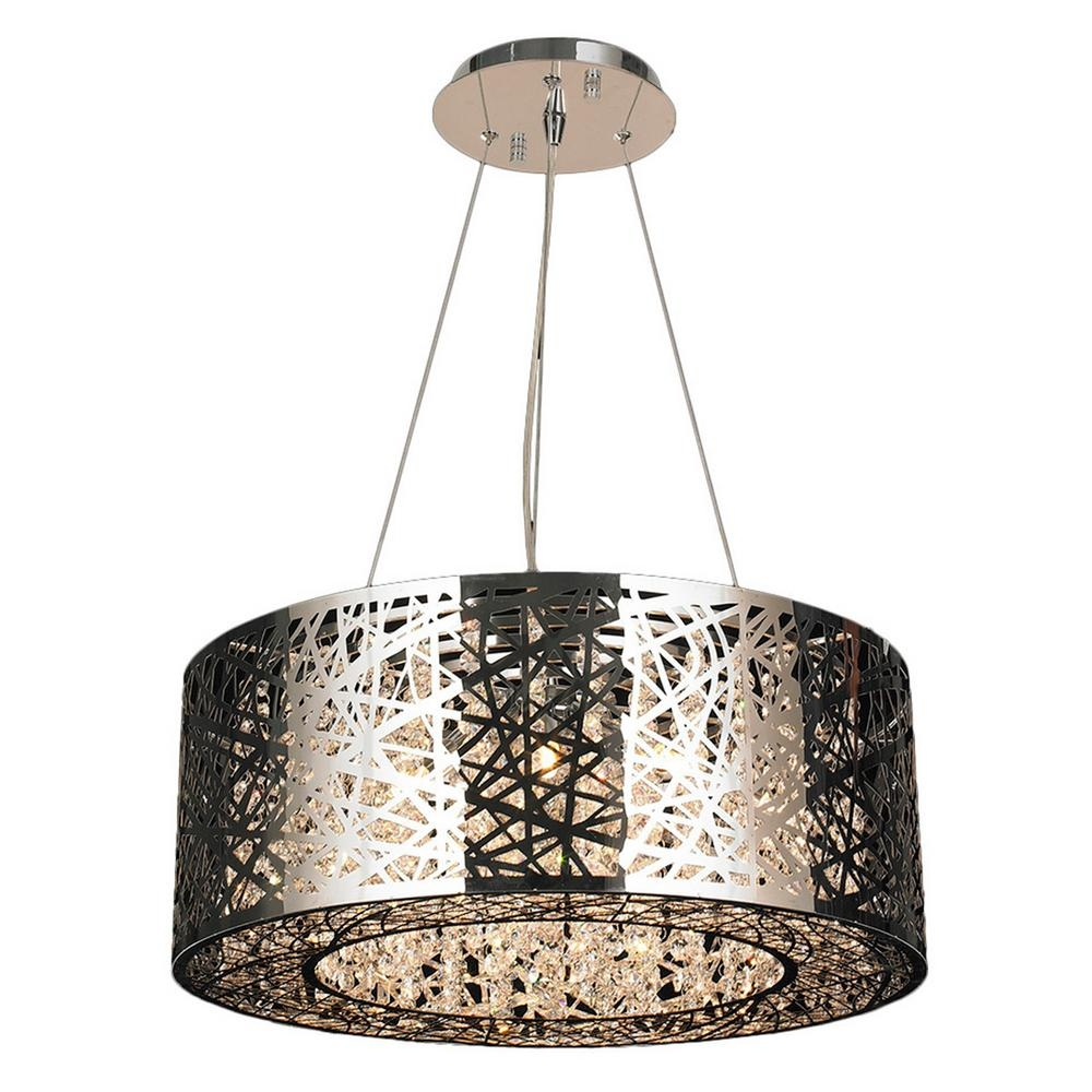 Worldwide Lighting Aramis 12 Light Chrome Chandelier With Clear Pertaining To Crystal Chrome Chandelier (#11 of 12)