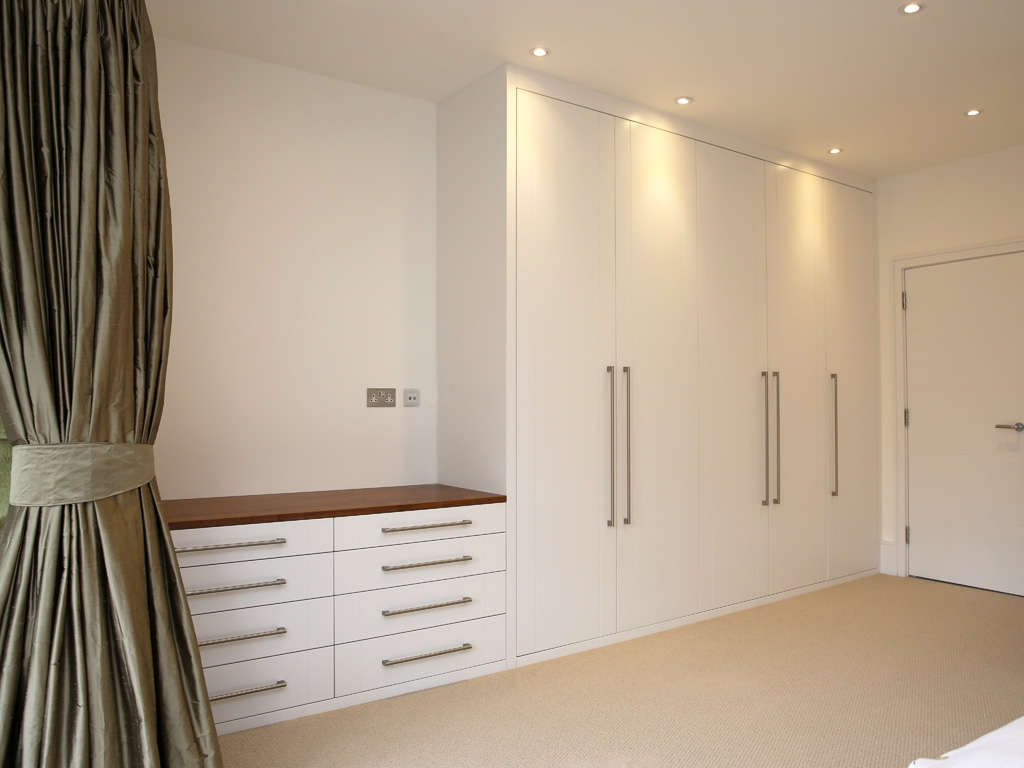 1 Bespoke Built In Fitted Wardrobe White Chest Drawers Modern Within Bespoke Built In Furniture (#1 of 15)