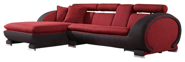 15 Inspirations of Red Microfiber Sectional Sofas