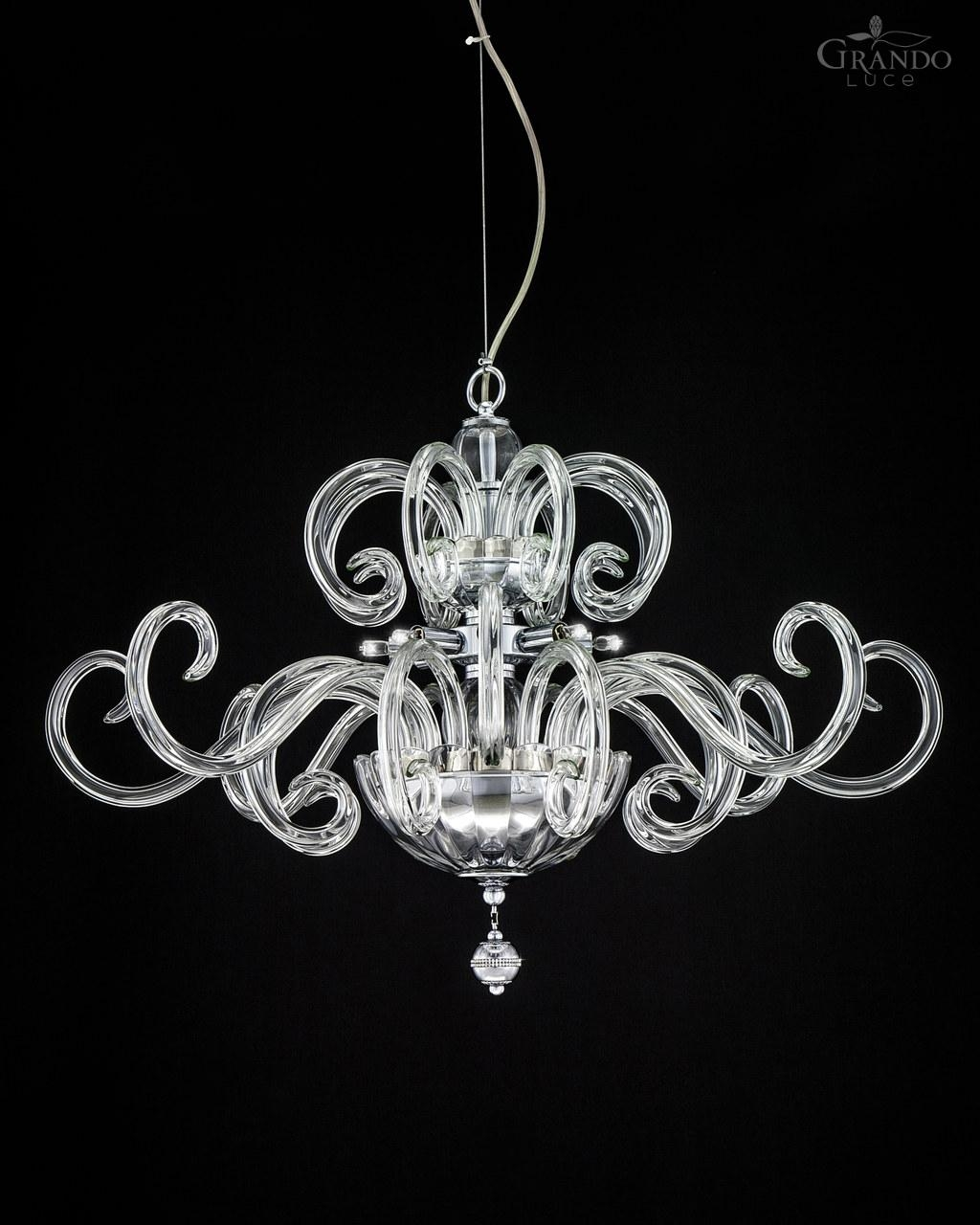 119sm Chrome Modern Crystal Chandelier With Swarovski Elements Inside Chrome And Crystal Chandelier (#1 of 12)