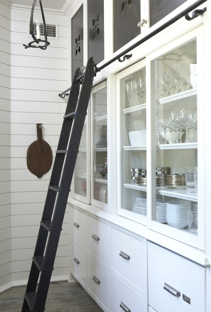 13 Best Diy Library Ladders Images On Pinterest With Sliding Library Ladder (#1 of 15)