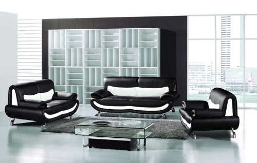 15 Black And White Leather Sofa Set Carehouse Intended For Black And White Sofas (#2 of 15)