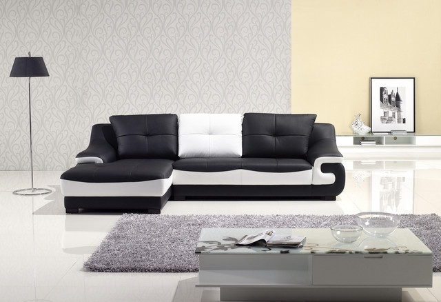 15 Black And White Leather Sofa Set Carehouse With Black And White Sofas (#3 of 15)