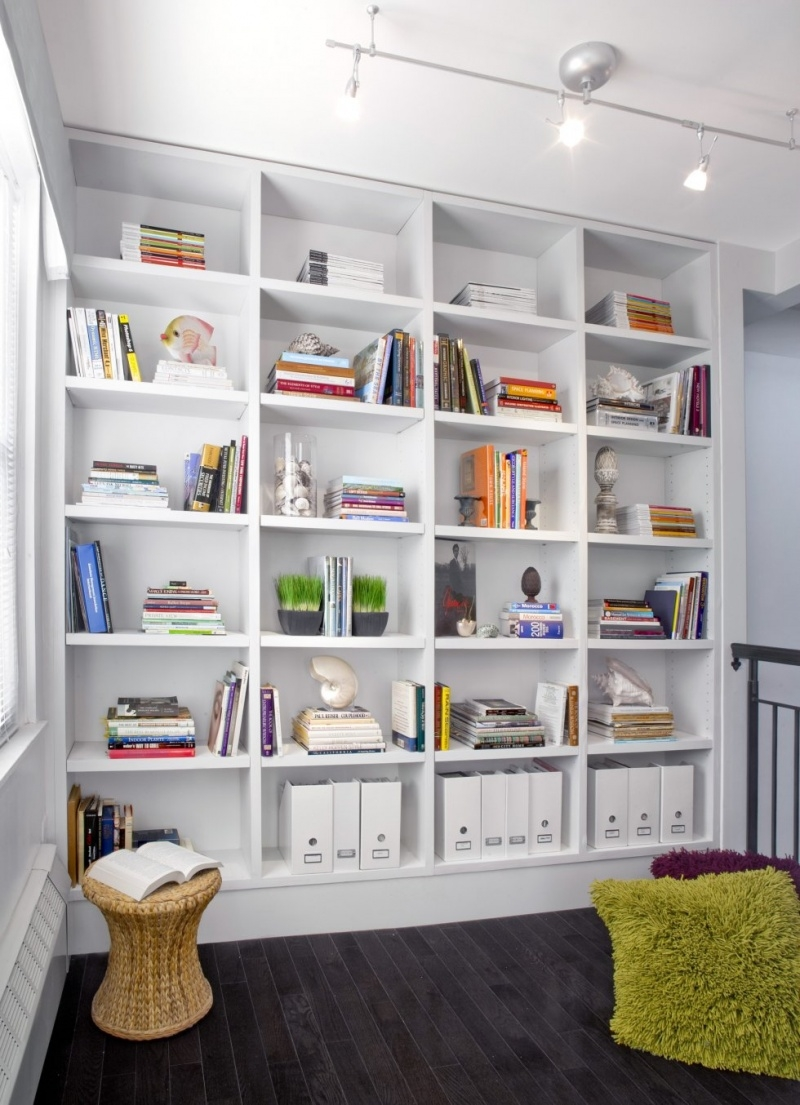 Popular Photo of White Library Bookcase