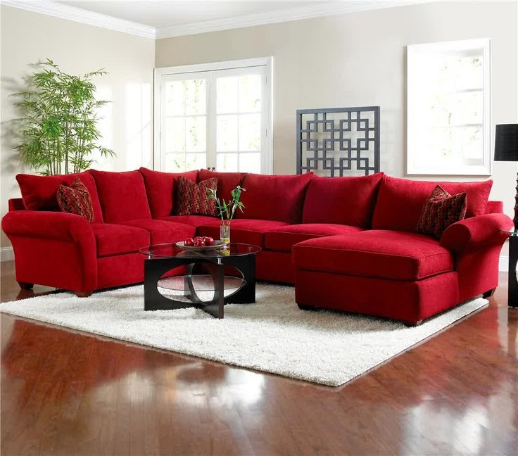 16 Best Red Sofas Creating A Modern Impression Of Living Room With Regard To Red Microfiber Sectional Sofas (#2 of 15)