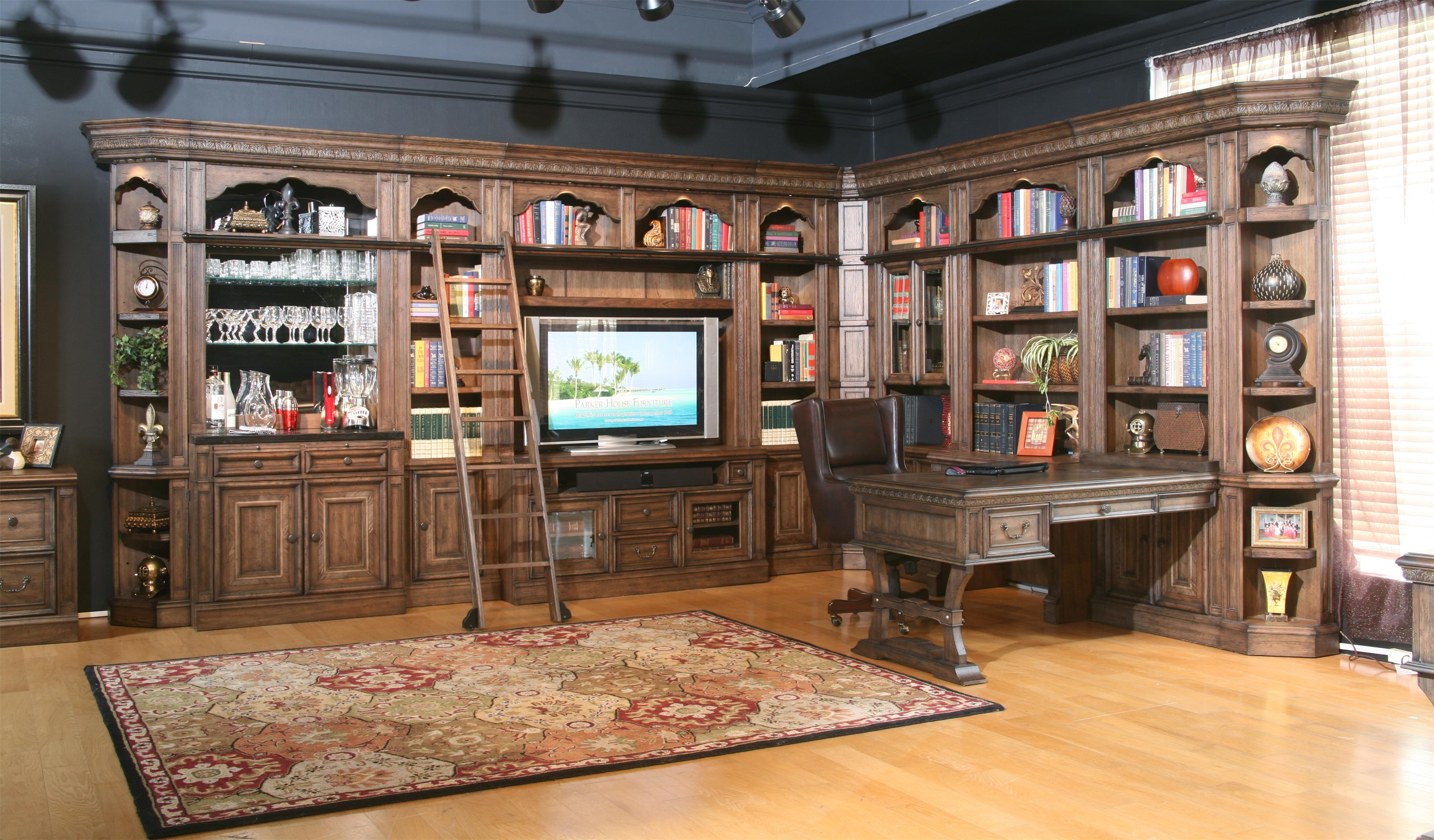 16 Pieces Parker House Estate Aria Display Library Wall Units With Home Library Wall Units (View 1 of 15)