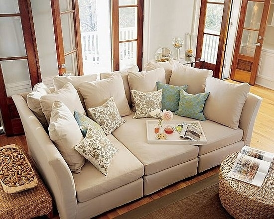 19 Couches That Ensure Youll Never Leave Your Home Again Big With Deep Cushioned Sofas (View 5 of 15)