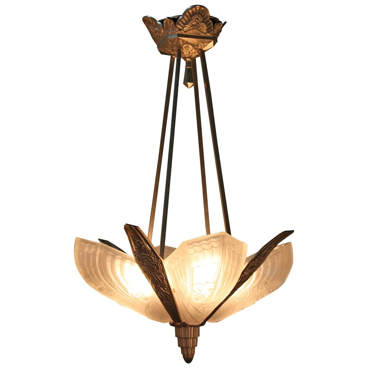 1920s Art Deco Chandelier At 1stdibs Regarding Art Deco Chandelier (#1 of 12)