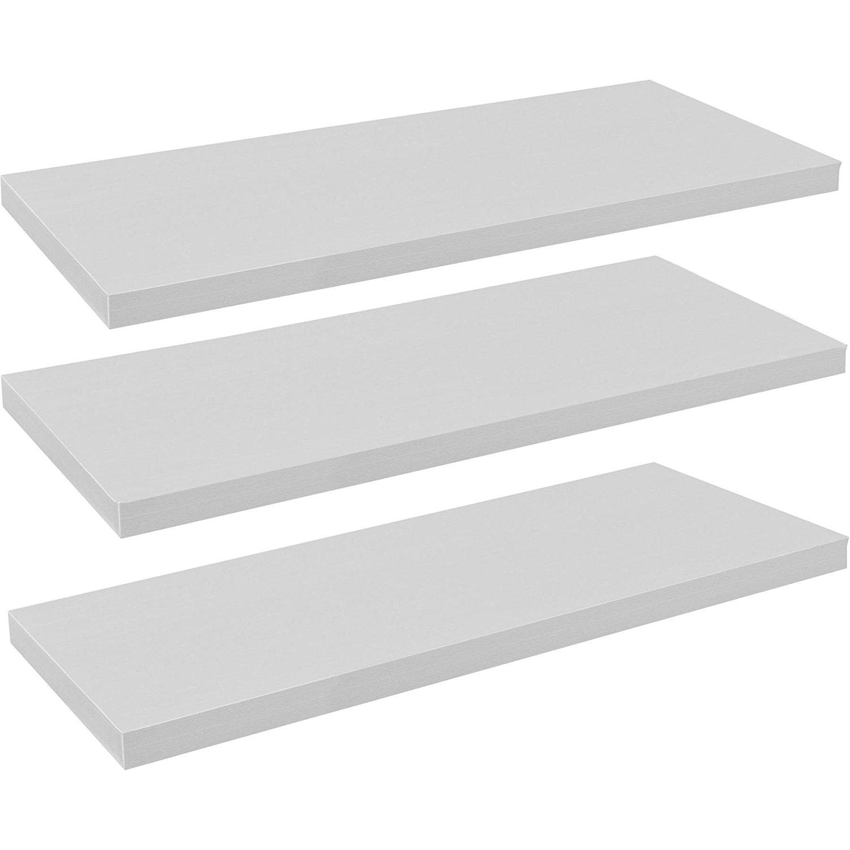 2 X 120cm Floating Shelf White Floating Wall Shelves Amazoncouk Inside Floating Shelves 120cm (#1 of 12)