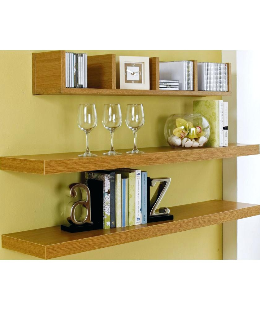 2 X Ikea Lack Oak Effect Floating Shelf Ravenshead Nottinghamshire Regarding Floating Shelves 120cm (#2 of 12)