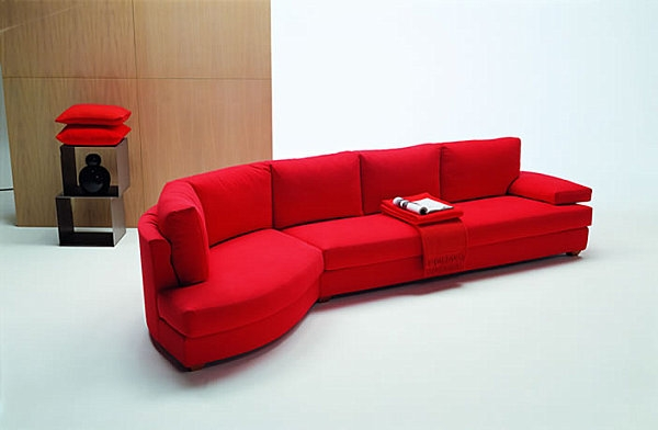 20 Modern Sectional Sofas For A Stylish Interior Sectional Sofa With Regard To Red Microfiber Sectional Sofas (#3 of 15)