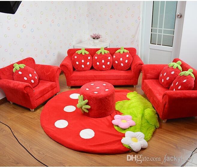 2017 Coral Velvet Children Sofa Chairs Cushion Furniture Set Cute Throughout Children Sofa Chairs (View 3 of 15)