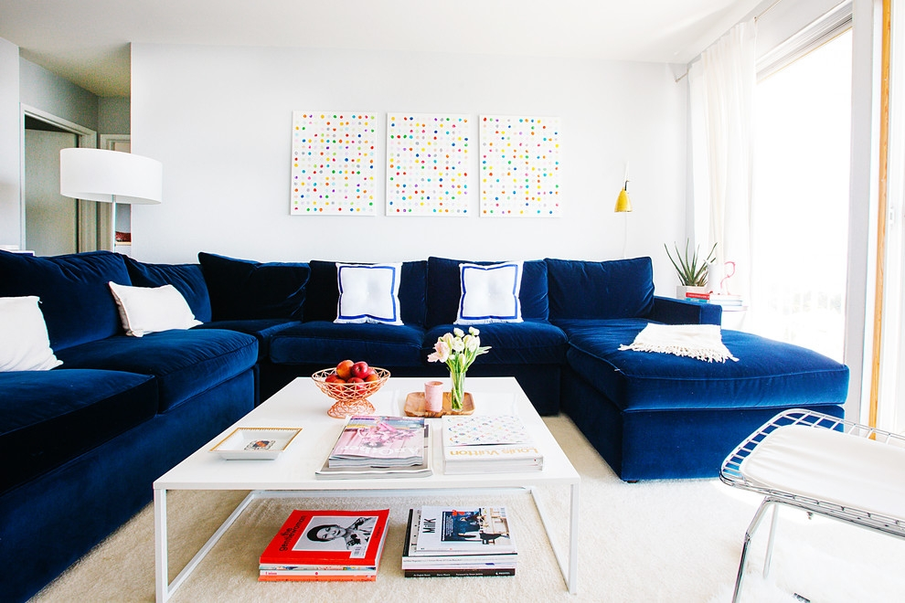 21 Different Style To Decorate Home With Blue Velvet Sofa With Dark Blue Sofas (#2 of 15)