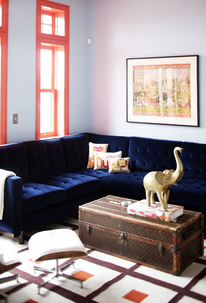 21 Different Style To Decorate Home With Blue Velvet Sofa With Dark Blue Sofas (#1 of 15)