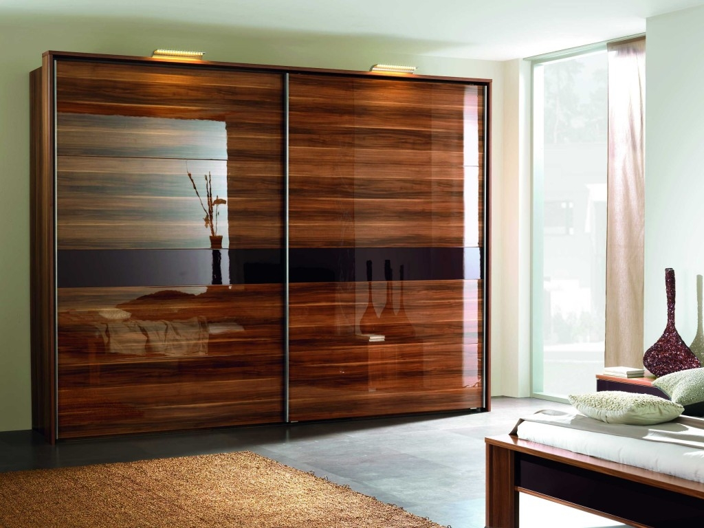 23 Stylish Closet Door Ideas That Add Style To Your Bedroom More In Solid Dark Wood Wardrobes (View 10 of 15)