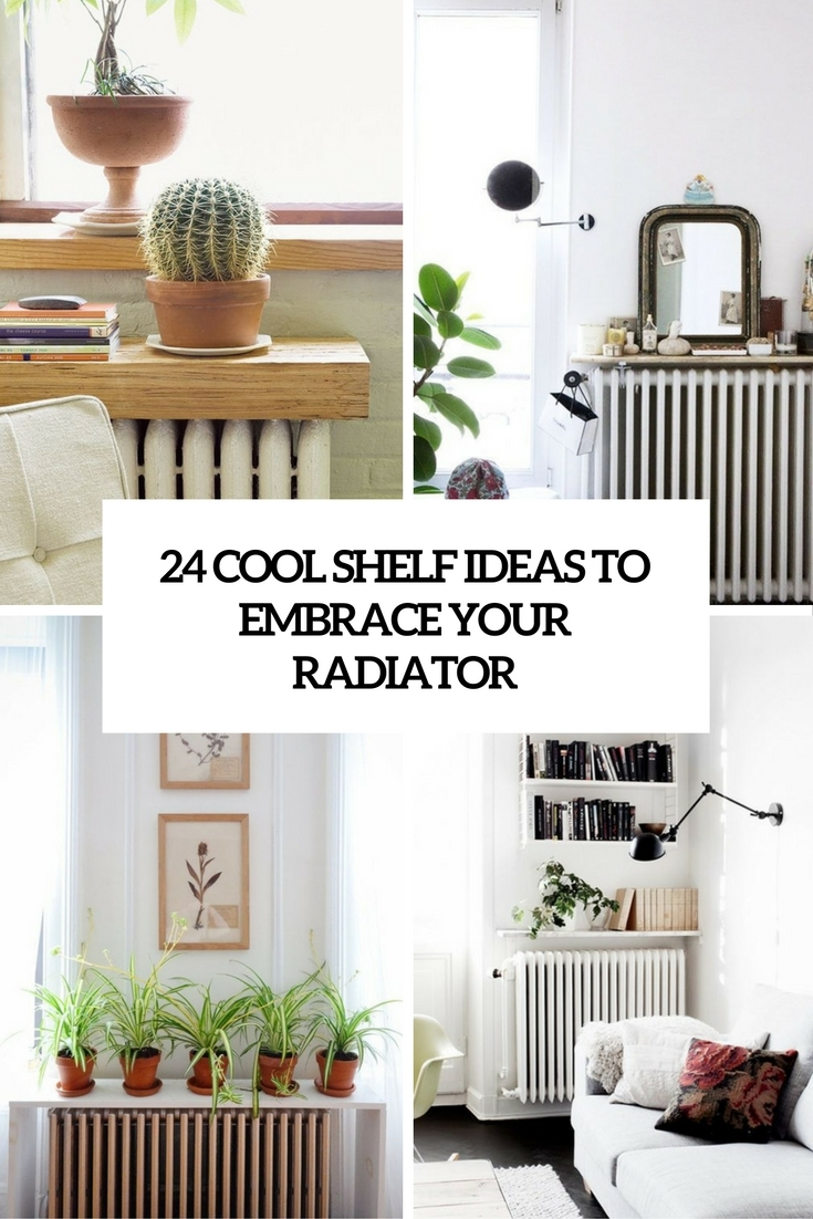 24 Cool Shelf Ideas To Embrace Your Radiator Shelterness Inside Radiator Cover Bookshelf (#1 of 15)