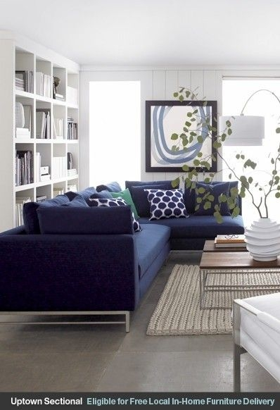 25 Best Blue Couches Ideas On Pinterest Navy Couch Blue Sofas Pertaining To Dark Blue Sofas (#3 of 15)