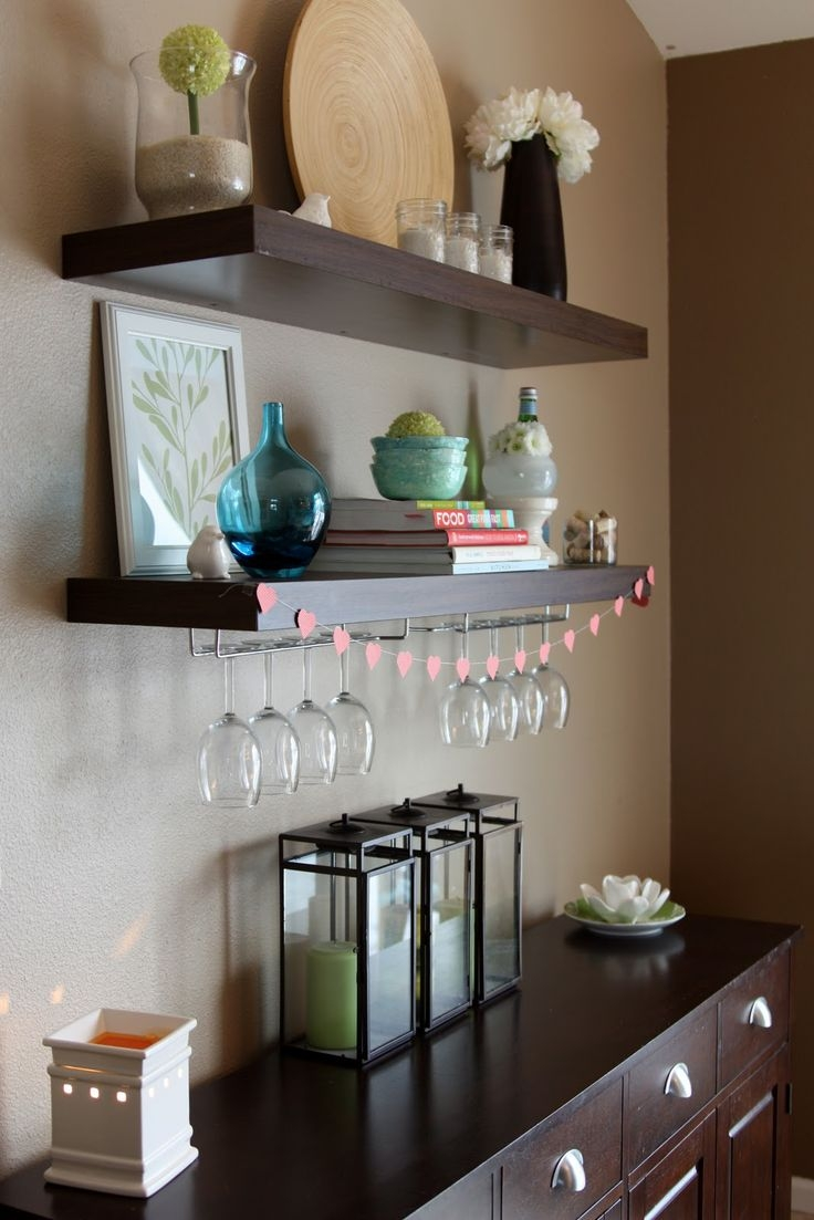 25 Best Wine Glass Shelf Ideas On Pinterest Regarding Floating Glass Shelves For Bar (#1 of 15)
