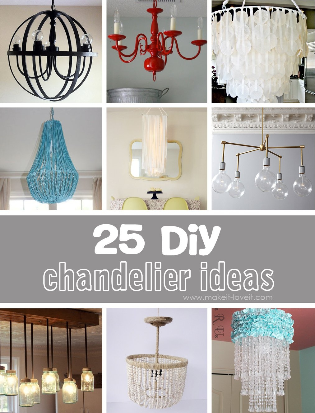 25 Diy Chandelier Ideas Make It And Love It Regarding Small Red Chandelier (#2 of 12)