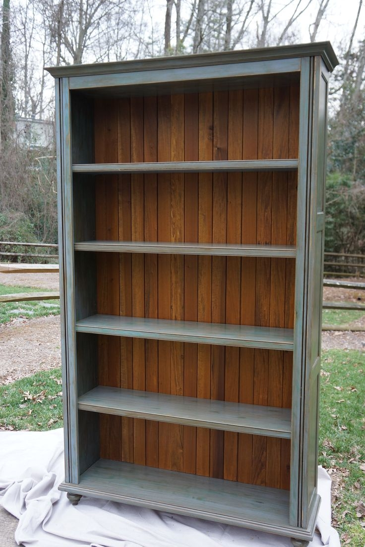 25 Great Ideas About Bookcase Redo On Pinterest With Regard To Hand Painted Bookcase (#1 of 15)