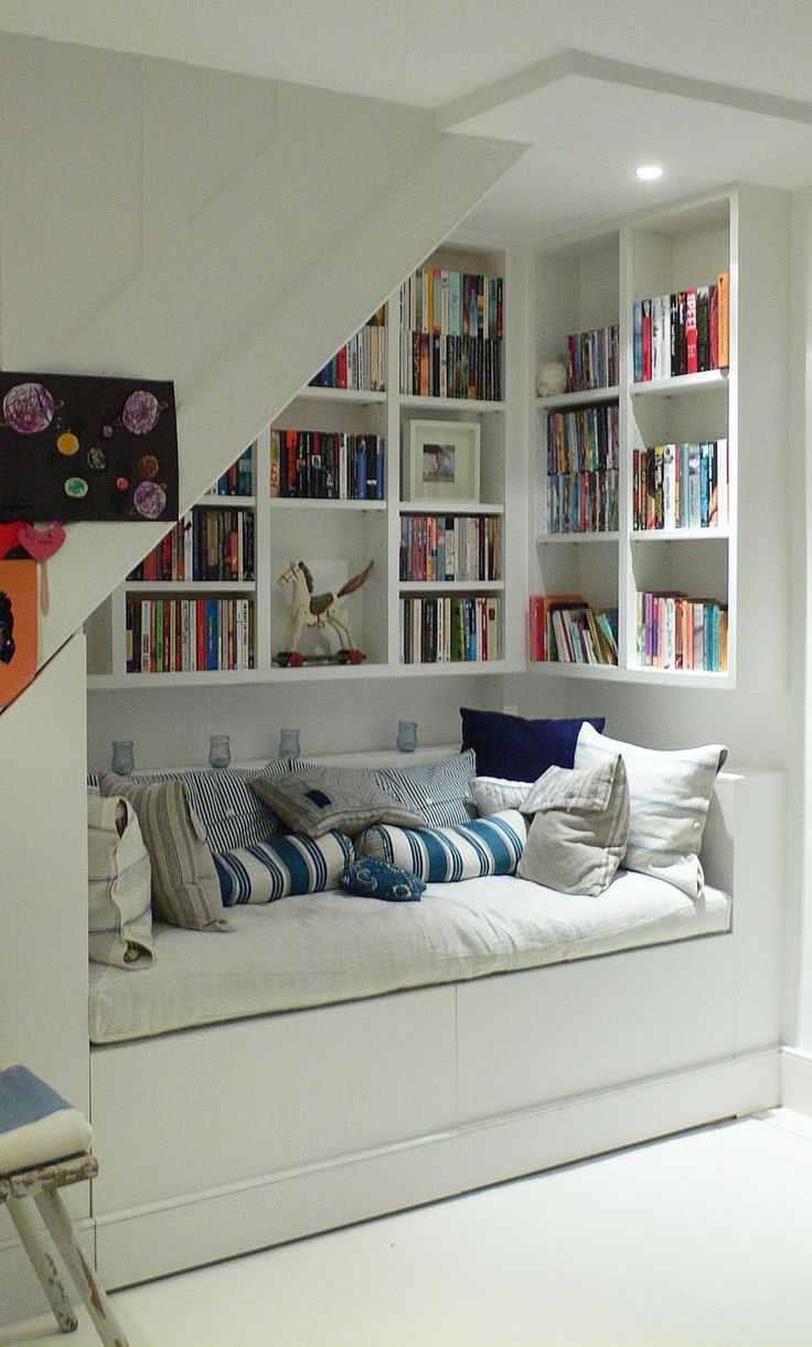 258 Best Clever Ideas For Awkward Spaces Images On Pinterest For Bookcase With Cupboard Under (#1 of 15)