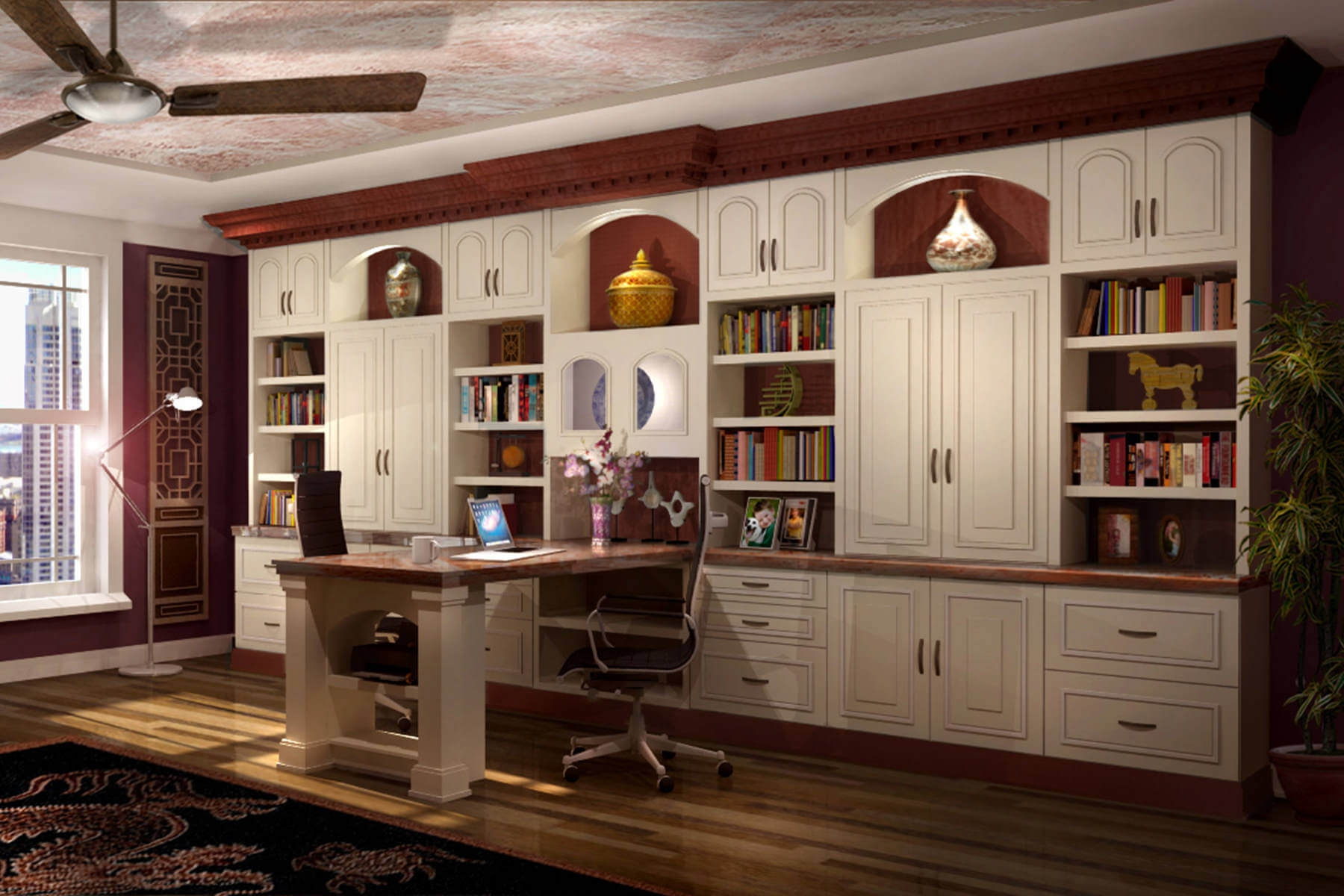 26 Home Office Designs Desks Shelving Closet Factory In Office Wall Cupboards (#1 of 12)