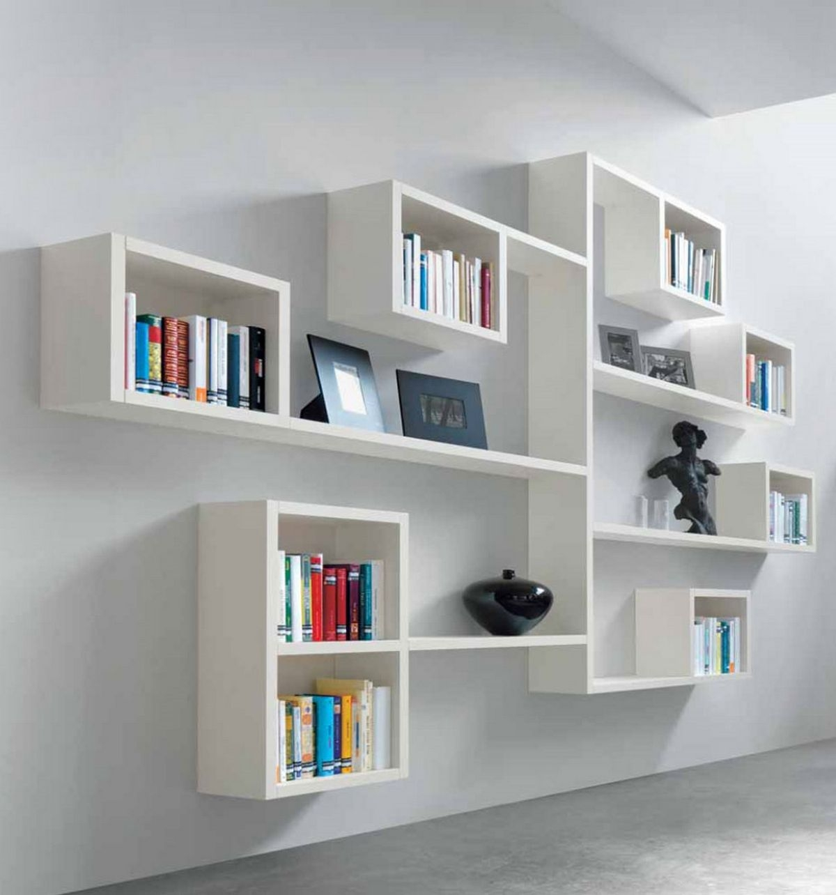 26 Of The Most Creative Bookshelves Designs Minimalist Book With Regard To Book Shelving Systems (View 3 of 15)