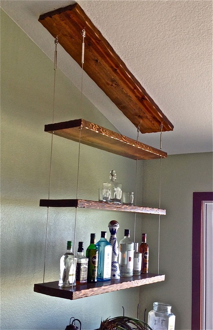 27 Best Reclaimed Shelves Images On Pinterest Intended For Glass Shelf Cable Suspension System (#1 of 15)