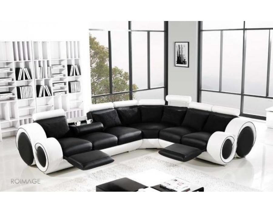 28 Leather Corner Sofas Auto Auctions With Large Black Leather Corner Sofas (#2 of 15)
