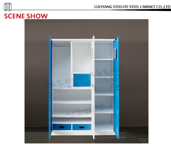 Inspiration about 3 Door Steel Wardrobe With Mirrorindustrial Metal Wardrobes Buy Throughout Metal Wardrobes (#9 of 15)