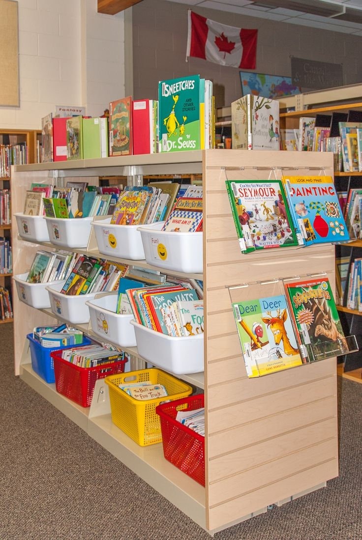 Inspiration about 30 Best School Library Sections Images On Pinterest Pertaining To Library Shelf Dividers (#8 of 15)