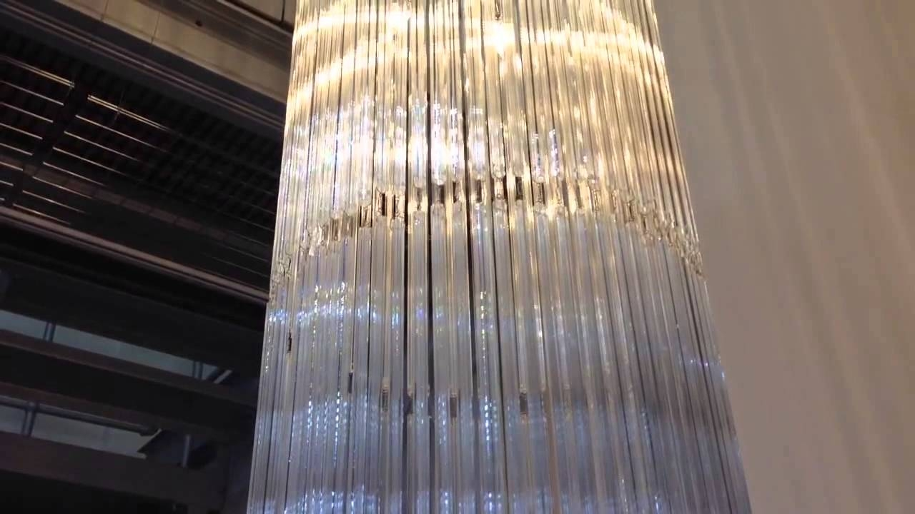 36m Custom Bespoke Made To Measure Glass Long Chandelier First Within Long Chandelier (#1 of 12)