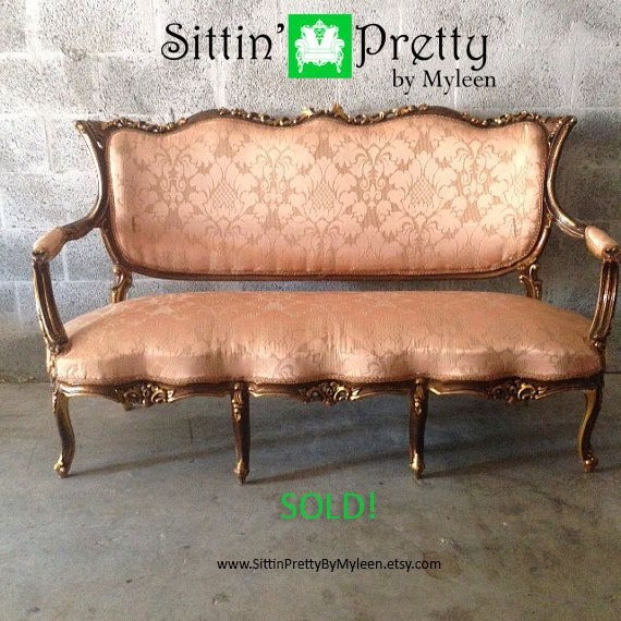 37 Best Antique Settees Sofas Images On Pinterest Throughout Etsy Sofas (#2 of 15)